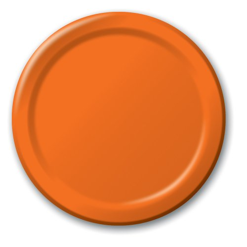 Creative Converting Touch of Color 24 Count Paper Banquet Plates, Sun-Kissed Orange