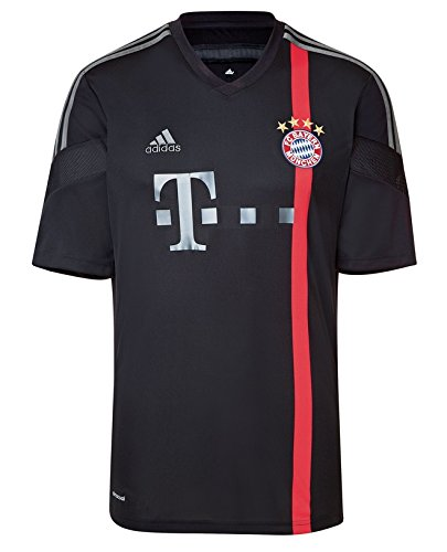 adidas Herren Spieler-Trikot FC Bayern München UCL Replica, black/red/iron grey S08/dark grey, M, F48405