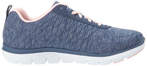 Skechers - Flex Appeal 2.0 Haute Energie, Baskets Bleues Pour Femme