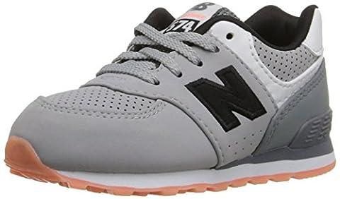 New Balance KL574 State Fair Running Shoe (Infant/Toddler), Grey/Black, 17 W EU