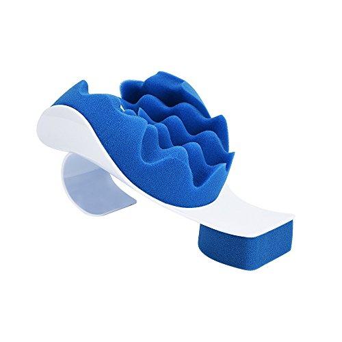 STRIR Almohadilla para Aliviar el Dolor Cervical - Relaja los Músculos Tensionados del Cuello Espalda y Hombro - Almohada & Collar para Traccion & Estiramiento de la Cabeza - Aplica una presión Suave