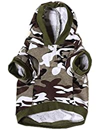 SAMGU Camouflage Toutous Hoodie pull Sweat pull à capuche pour chien chiot