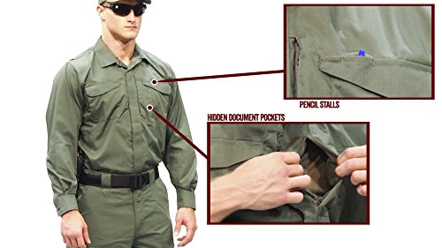Tru-Spec Men's Uniform Shirt, 24-7 Blk L/w P/c R/s for sale  Delivered anywhere in UK