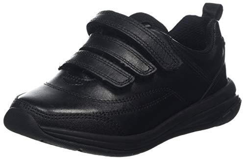 Clarks Hula Thrill, Unisex-Kinder Niedrig, Schwarz (Black Leather), 27.5 EU -