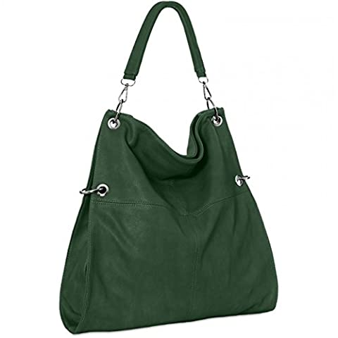CASPAR TS561 Women Handbag, Colour:dark green