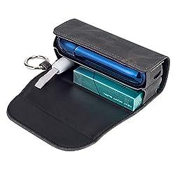 DrafTor E Zigarette Tasche, PU Leder Zigarettenetui für IQOS 3.0 mit mit Clip oder Schnalle (nur Geldbörse)(Grau)