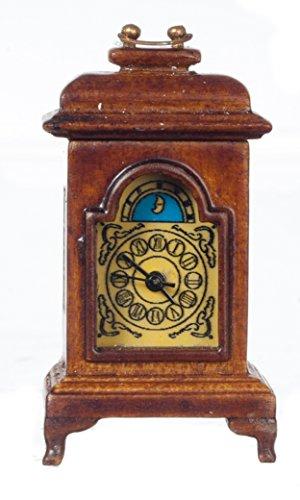 Melody Jane Casa Delle Bambole Funzionante Color noce Orologio Da Carrozza Miniatura JBM Accessorio 1:12 Scala