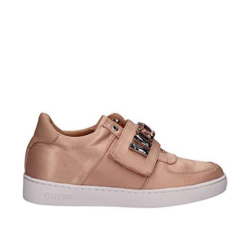 GUESS (Flo) Sneaker Raso Satinato Strappo Gioielli FLFLO1SAT12 Nudo
