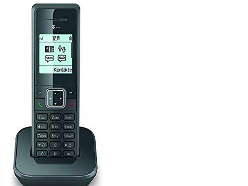 Telekom Sinus 206 pack schnurloses Erweiterungsmobilteil (150 Telefonbucheinträge, monochromes Grafikdisplay) graphit