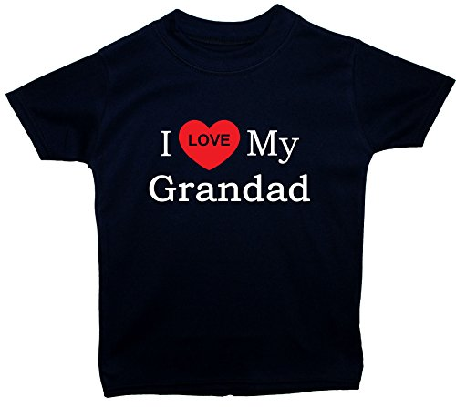 Acce Products I Love My Grandad bébé/Enfant t-Shirts/Tops 0 à 5 Ans - Bleu - S
