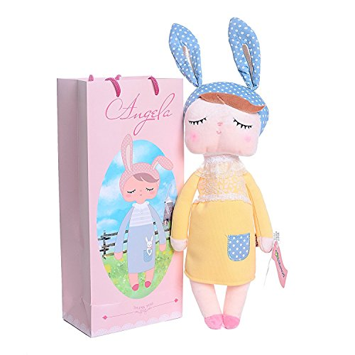 Me Too Schlafen Angela Girl Plüsch Kleid Bunny Kaninchen Spielzeug Puppen 30,5 cm + Geschenk Tüte