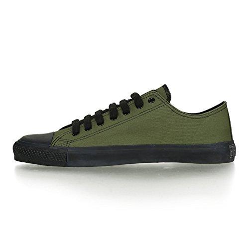 Ethletic Black Cap vegan LoCut - Farbe camping green / black aus Bio-Baumwolle Größe 42 - 3