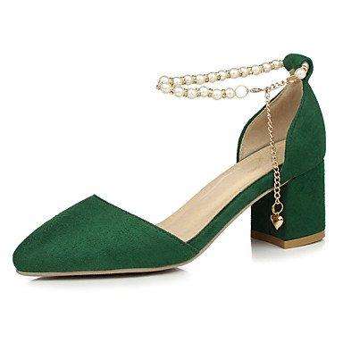 CH&TOU Da donnaTempo libero / Formale / Casual-Tacchi / A punta-Quadrato-Finta pelle-Nero / Verde / Rosso green
