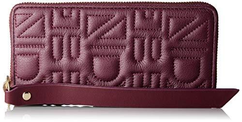Liebeskind Berlin Damen Qusallw8 Quilt Geldbörse, Violett (Fig), 2.0x12.0x21.0 cm - Leder Gestickte Brieftasche