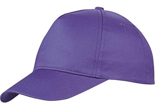 us-basic-5-panel-baseball-cap-hat-8-colours-purple