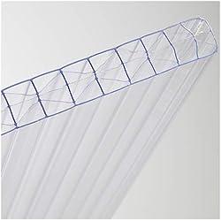 générique plaque polycarbonate 16 mm transparent - Dimensions 2,00 m x 0.98 m