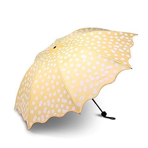 ZQ@QX Sonnenschutz Gummi schwarz UV-regenschirme Folding Regenschirm, Huang