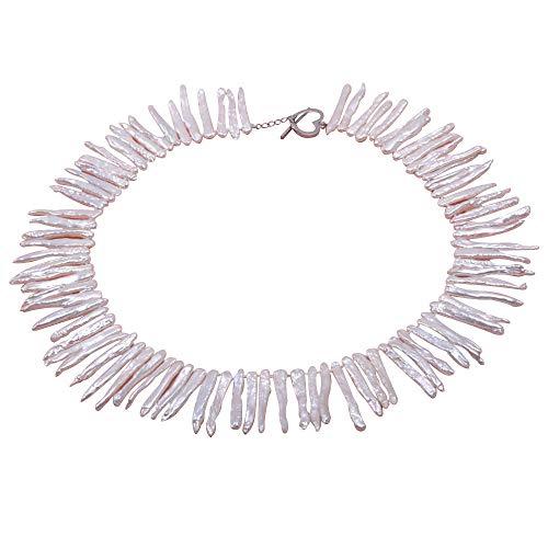 jyx Classic 4x 35mm weiß biwa Süßwasser Pearl Halskette ()