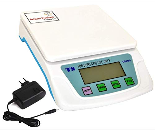 Baijnath Premnath Digital 10kg x 1g Premium Scale Balance Multi-purpose weight measuring machine with Adapter Weighing Scale {for research}