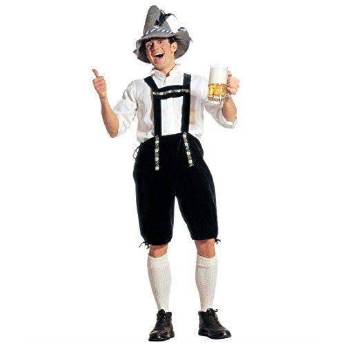 Bayerische Lederhose Kostüm Bayer Seppelhose Sepplhose Seppel Hose Seppl Oktoberfest Bayernhose Gr L (Kostüm Schuhplattler)