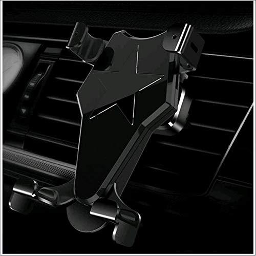 Car Bracket Handy-Halter, Press Induktions Halterung, Snap-Typ, Luftauslass, Mobil Funk Halter,Gold Versteckte Snap