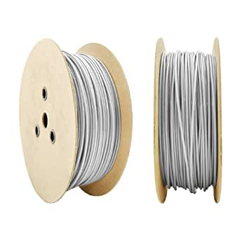 100m DRAHTSEIL in PVC 4/5mm TRANSPARENT verzinkt Stahlseil Seil Draht Stahl