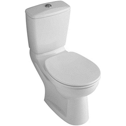 Villeroy & Boch Spülkasten (ohne WC, ohne Sitz) OMNIApro Zulauf seitl. weiß alpin DUO Spartaste chr