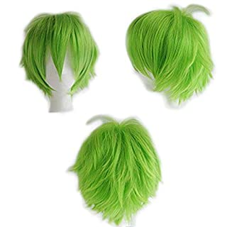 Lady Outlet Mall Women Costume Wigs Cosplay Hair Wigs Synthetic Short Wigs Anime Costume Heat Resistant - Green