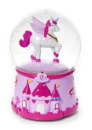 Schneekugel mit Einhorn und Musik Spieluhr für Mädchen