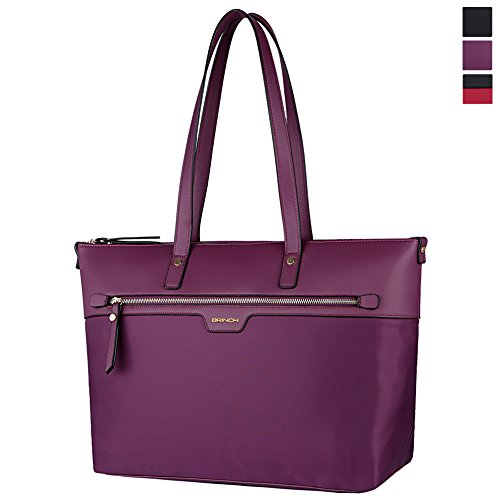 laptop-tote-brinch-nylon-pu-leather-stylish-zipper-carrying-shopping-duffel-bag-travel-business-comp