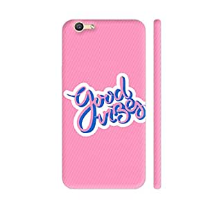 Colorpur Good Vibes On Pink Printed Back Case Cover for Vivo Y55L
