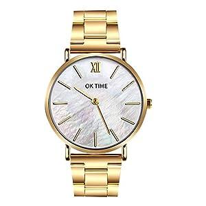 Herren Damen Paar Uhren, Kaiki Edelstahl Armband Mehrfarben Uhr Ferien Geschenk