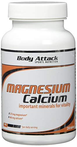 Body Attack Magnesium+Calcium, 1er Pack (1x 250 Tabletten) -