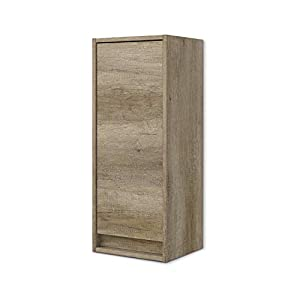 ARKITMOBEL 305090H – Mueble Lavabo Dakota, Columna de baño Colgante 1 Puerta Acabado en Color Nordik, Medidas: 30 cm…