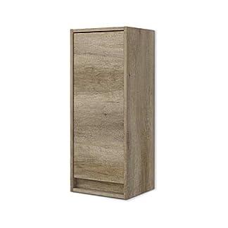 ARKITMOBEL 305090H – Mueble Lavabo Dakota, Columna de baño Colgante 1 Puerta Acabado en Color Nordik, Medidas: 30 cm (Largo) x 74 cm (Alto) x 25,5 cm (Fondo)