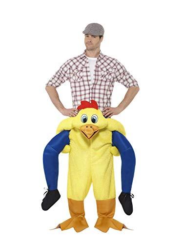 SMIFFY 'S Zahlenschloss Piggyback Chicken Kostüm, Gelb, One Size