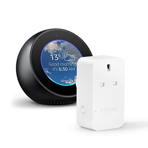 Amazon Echo Spot, Black + Amazon Smart Plug