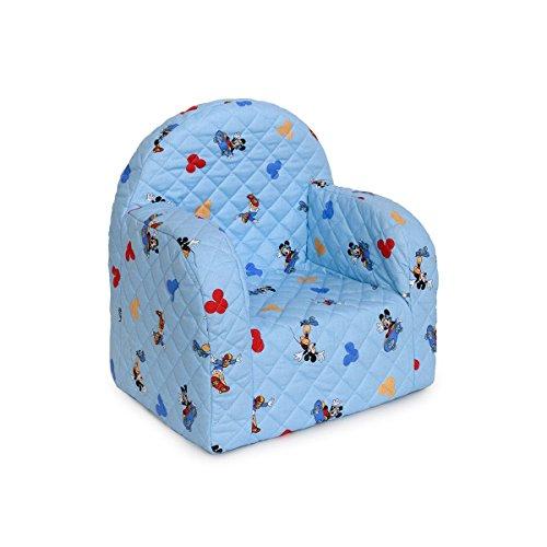 Poltrona sedia poltroncina disney topolino mickey colore celeste cameretta