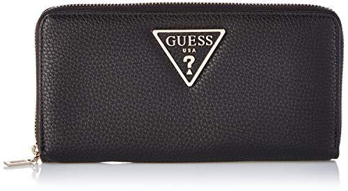 Guess aretha, portafoglio donna, nero (black), 2x10x21 cm (w x h x l)