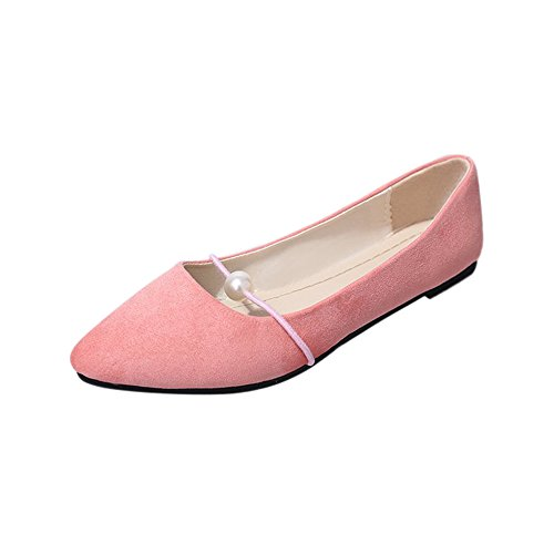 Damen Mokassins Bootsschuhe Leder Arbeitsschuhe Freizeit Flache Loafers Halbschuhe Fahren Sandalen Klettverschluss Erbsenschuhe (Ugg Mokassin-kinder)