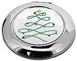 Advanta Group Simplistic Taschenspiegel, rund, Weihnachtsbaum