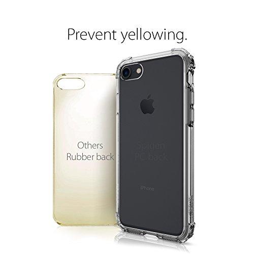 iPhone 8 / 7 Hülle, Spigen® [Crystal Shell] iPhone 8 Hülle, Extra-Schock Absorption [Rose Crystal] Durchsichtige Rückschale + Ausgeführtes TPU-Bumper Schutzhülle für Apple iPhone 7 Hülle / iPhone 8 Ca CS Dark Crystal