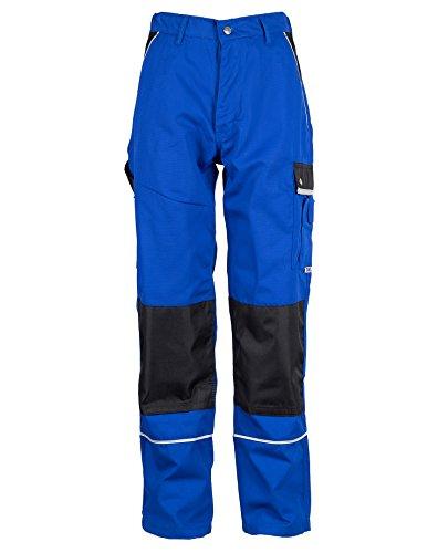 TMG® Robuste Bundhose für Männer | Blau | Lange Herren Arbeitshose mit Kniepolster Taschen und Reflektoren | Ideal für Handwerker im Bereich Sanitär 68