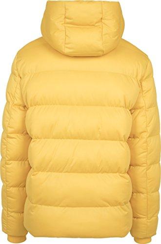 Urban Classics Herren Jacke Hooded Boxy Puffer Jacket Gelb (Chrome Yellow 01148)