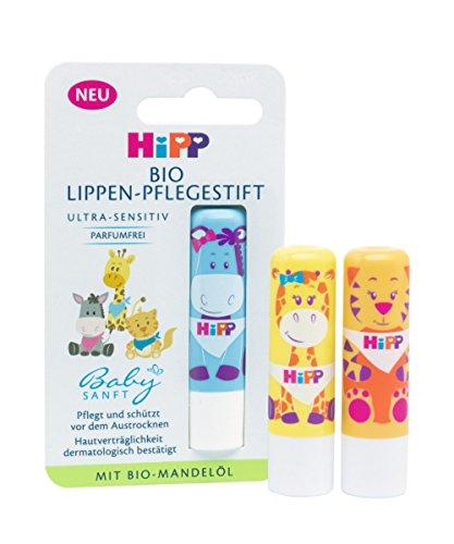 HiPP Babysanft 9666 Bio Lippenpflegestift, 3er Pack (3 x 4,8 g)