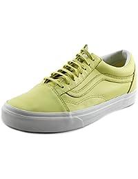 Calzado deportivo para mujer, color Amarillo , marca VANS, modelo Calzado Deportivo Para Mujer VANS OLD SKOOL Amarillo