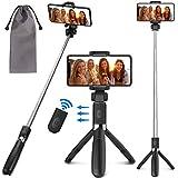 PEYOU Palo Selfie Trípode para Móvil, [3 en 1 ] Palo Selfie Stick con Control Remoto, Mini Selfie Stick para iPhone XS MAX XR 8 8 Plus 6 6s 7 7plus, Samsung Galaxy, Huawei p10 Lite p9 Mate 10