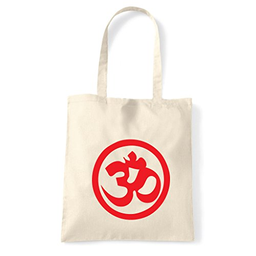 Art T-shirt, Borsa Shoulder Symbol Om Peace Natural