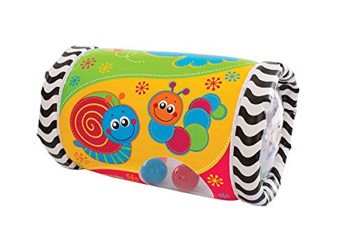 *Playgro Krabbelrolle mit Musik, Aufblasbar, Ab 6 Monate, Tumble Jungle Peek in Roller, Bunt, 40154*