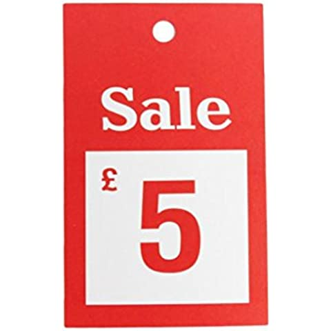 Nueva venta 100x £5gran tamaño gancho para la Tarjeta de tarjetas precio reducido etiquetado pistola etiquetadora SWING entradas números tarjetas
